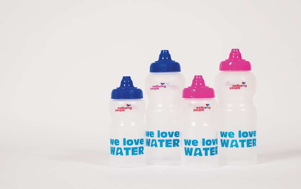 Wellbeing Water Bottles in Multiple Sizes
