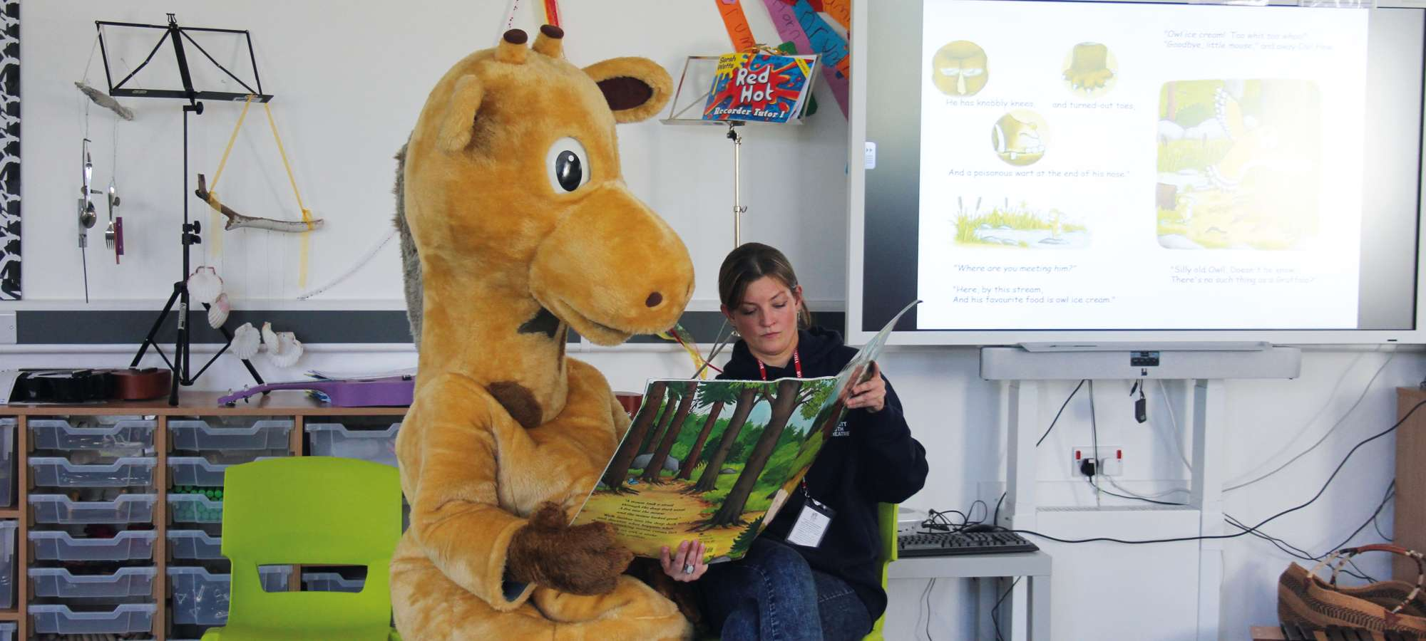 Gerald Reading In Classroom