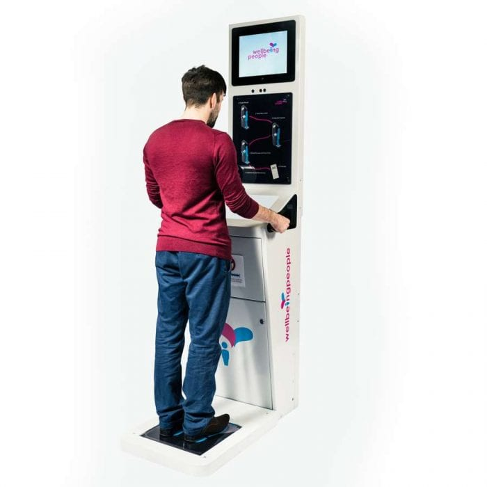 Interactive Health Kiosk In Use