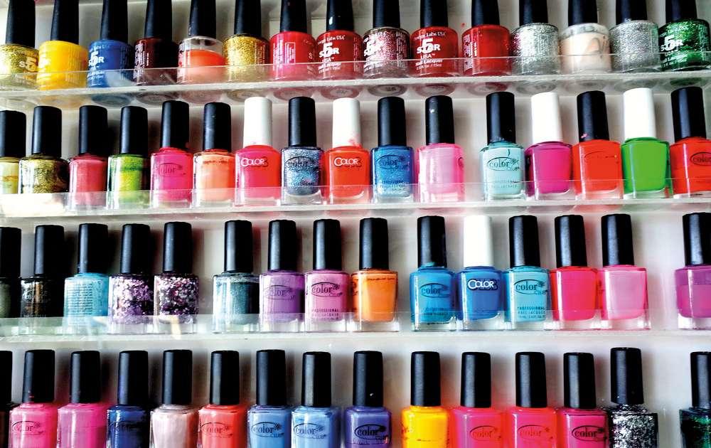 Variety of nail varnish colours