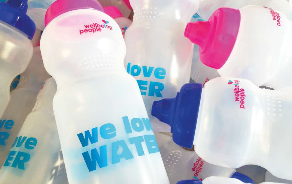 Wellbeing Water Bottle Close