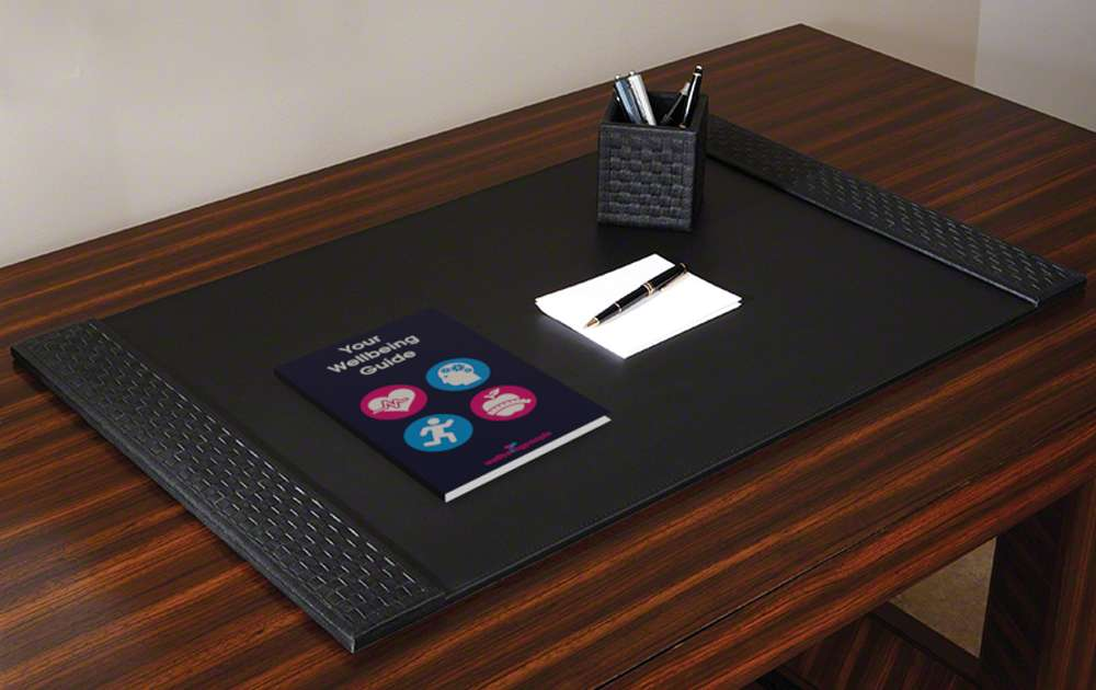 Your Wellbeing Guide Booklet on Desk