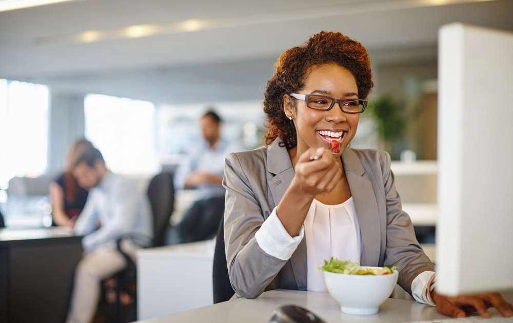 Healthy Eating at Desk